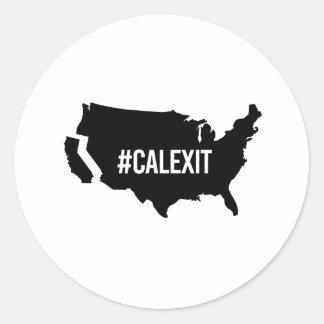 Calexit - -  classic round sticker