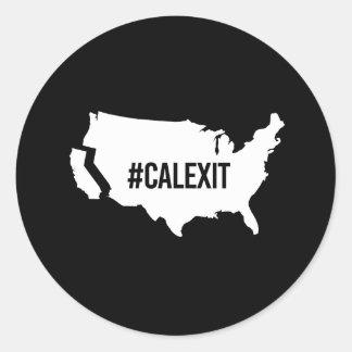 Calexit -- -  classic round sticker