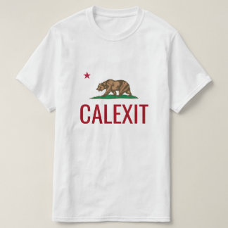 CALEXIT shirts with California Republic state flag