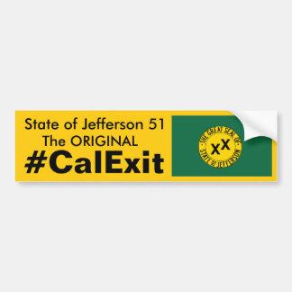 CALEXIT State of Jefferson 51 Bumper Sticker