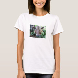 Calf 1, Ladies Baby Doll (Fitted) T-Shirt