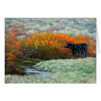 Calf by Creek in the Fall Greeting Card