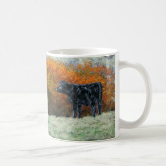 Calf by Creek in the Fall Mug