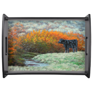 Calf by Creek in the Fall Serving Tray