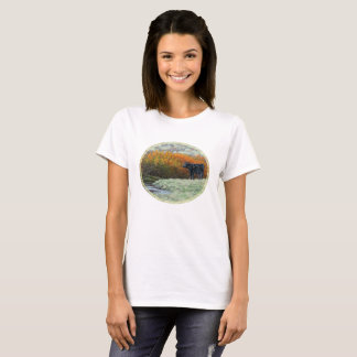 Calf by Creek in the Fall T-Shirt