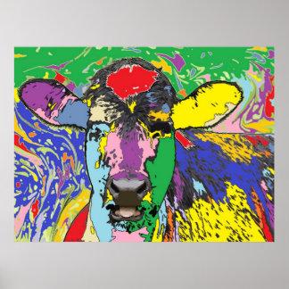 Calf Portrait 4 Poster