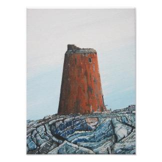 Calf Rock Light house , Oil : Photo Print