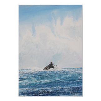 Calf Rock Lighthouse 2 Watercolor Photo Print