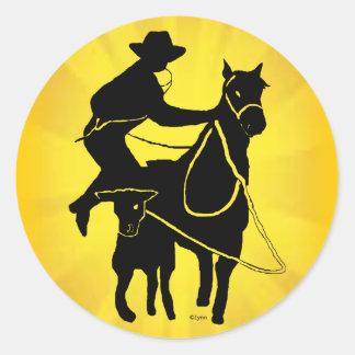 Calf Roper 303 Classic Round Sticker
