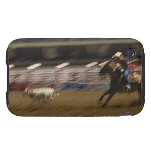 Calf Roping, Calgary Stampede iPhone 3 Tough Cover