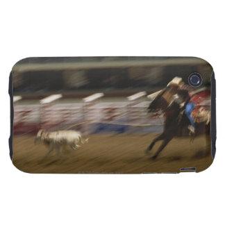 Calf Roping, Calgary Stampede Tough iPhone 3 Cases
