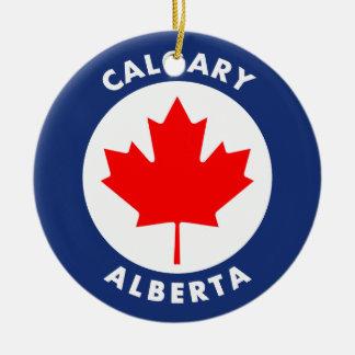 Calgary, Alberta Ceramic Ornament