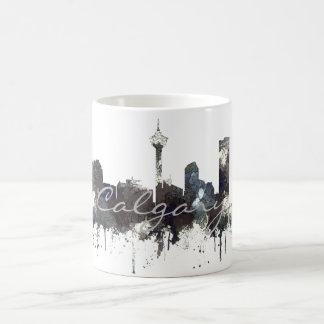 CALGARY, ALBERTA SKYLINE - CRISP - Drinking Mug
