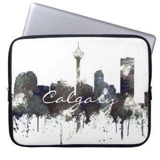 Calgary Alta.Skyline-CRISP Laptop Sleeve