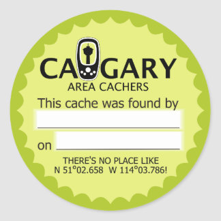 Calgary Area Cachers Found It! Stickers