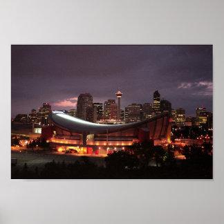 Calgary at Dusk Poster