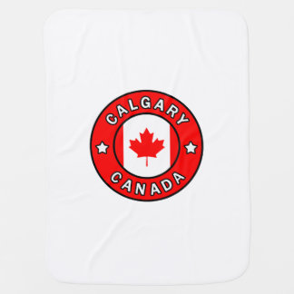 Calgary Canada Baby Blanket