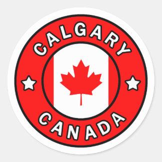 Calgary Canada Classic Round Sticker