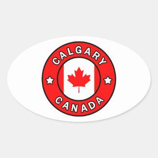 Calgary Canada Oval Sticker