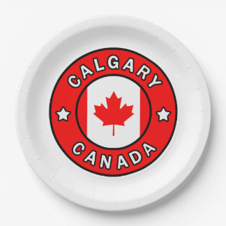 Calgary Canada Paper Plate