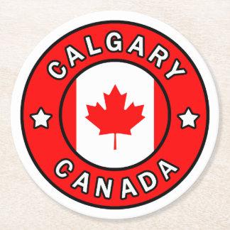 Calgary Canada Round Paper Coaster
