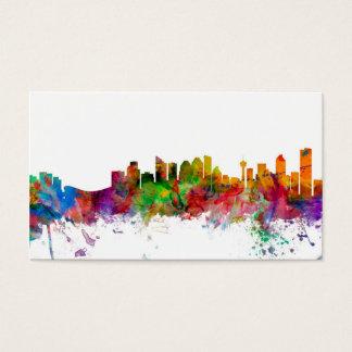 Calgary Canada Skyline Business Card