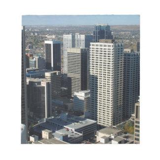 Calgary Canada Skyline Notepad