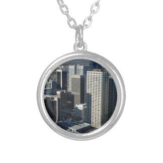 Calgary Canada Skyline Silver Plated Necklace