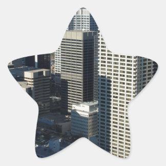 Calgary Canada Skyline Star Sticker