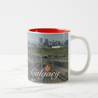 Calgary Canada Souvenir Two-Tone Coffee Mug