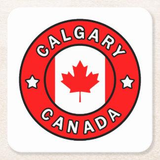 Calgary Canada Square Paper Coaster
