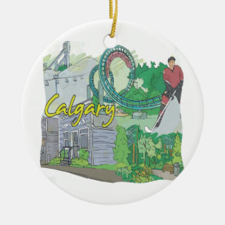 Calgary Ceramic Ornament