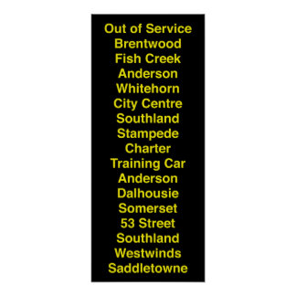 Calgary CTrain Rollsign Posters