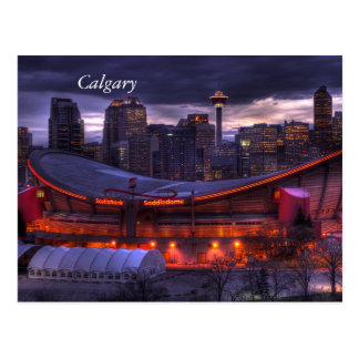 Calgary Downtown Sunset Postcard