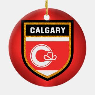Calgary Flag Ceramic Ornament
