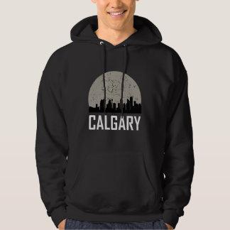 Calgary Full Moon Skyline Hoodie