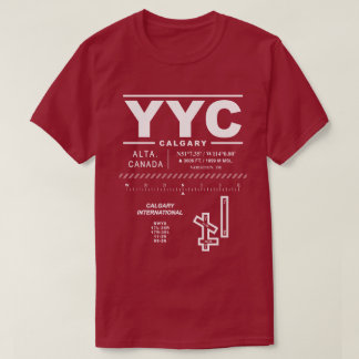 Calgary International Airport YYC T-Shirt