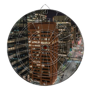 Calgary Night Skyline Dartboard