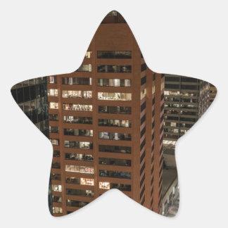 Calgary Night Skyline Star Sticker