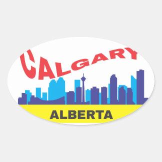 Calgary Oval Sticker