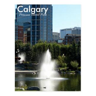 Calgary Princess Island Park post card