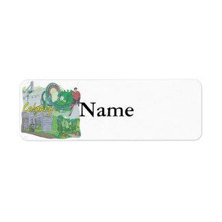 Calgary Return Address Label