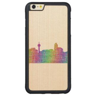 Calgary skyline carved® maple iPhone 6 plus bumper case