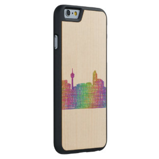 Calgary skyline carved® maple iPhone 6 slim case