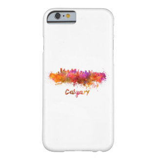 Calgary skyline in watercolor barely there iPhone 6 case