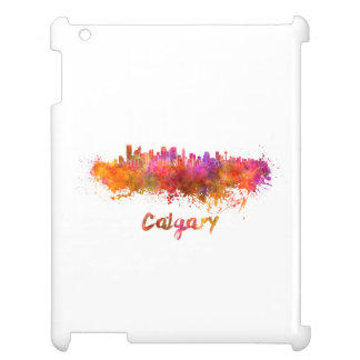 Calgary skyline in watercolor case for the iPad 2 3 4