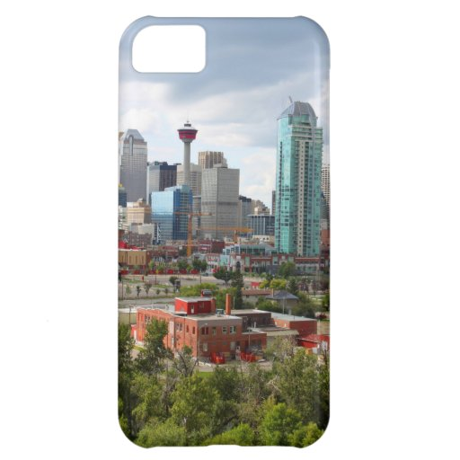 Calgary skyline with buildings and tower cover for iPhone 5C