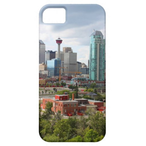 Calgary skyline with buildings and tower iPhone 5 covers