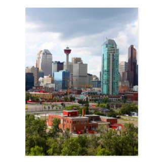 Calgary skyline with buildings and tower postcard