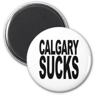 Calgary Sucks 2 Inch Round Magnet